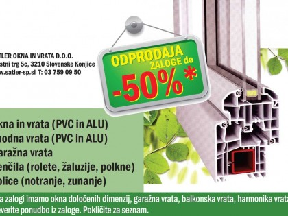Odprodaja zaloge do -50%