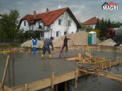 Izdelava betonske plošče Domžale